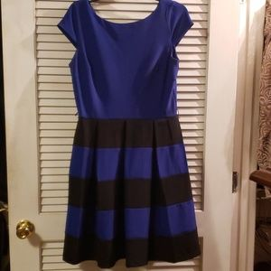 ❣Blue and black pleated dress❣